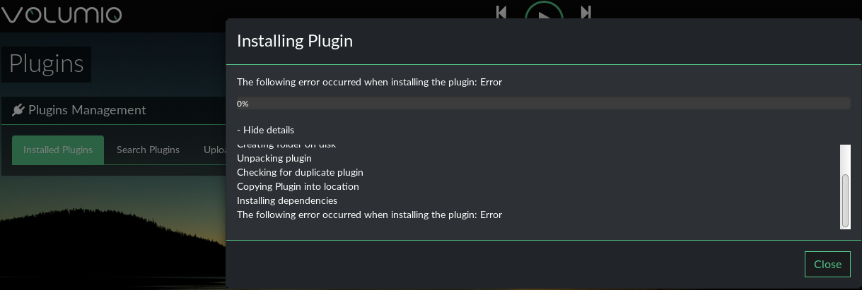 volumio-install-kodi-plugin-error.png